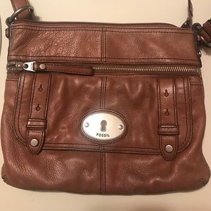 Brown Fossil crossbody purse